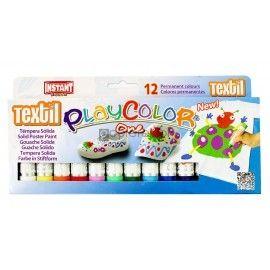 Farby w sztyfcie Playcolor Textil One 12 Kolorów