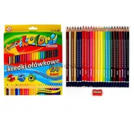 Kredki ołówkowe 24 kolory Kolori