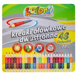 Kredki Premium Kolori dwustronne 24/48 kolory