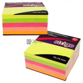Karteczki samoprzylepne 75x75 mm 400 kartek neonowych