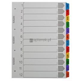 Przekładki A4 kartonowe 1-12 numeryczne Starpak