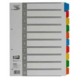 Przekładki do segregatora Tres A4 10 kolorów MAXI