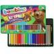 Kredki Bambino w oprawie drewnianej 26 kolorów + temperówka