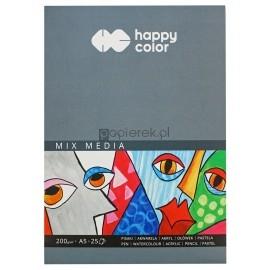 Blok szkicownik A5 200g Happy Color 25K