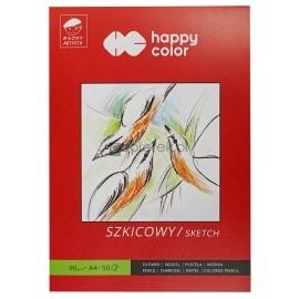Blok szkicownik A4 90g Happy Color 50K