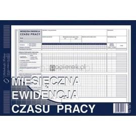 MIESIĘCZNA EWID. CZASU PRACY A4