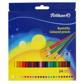 Kredki ołówkowe 24 kolory Pelikan