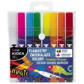 Flamastry zmieniające kolor 14 kolorów Kieda