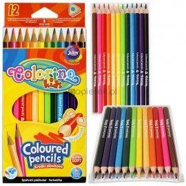 Kredki ołówkowe trójkątne Colorino 12 kolorów