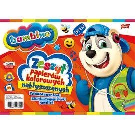 Zeszyt papierów kolorowych Bambino A4 10 kartek