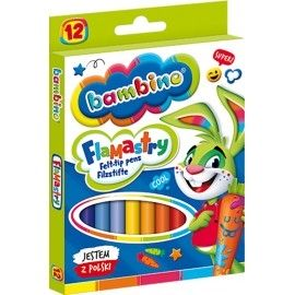 Flamastry Bambino 12 kolorów