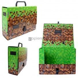 Teczka z rączką gruba Minecraft A4 XL