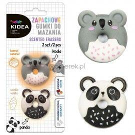 Gumka zapachowa do ścierania Kidea 2 szt. Panda i Koala