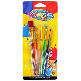 Pędzelki akrylowe Colorino Kids 5 szt.