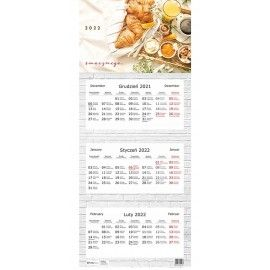 Kalendarz trójdzielny 2022 Smacznego Interdruk