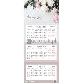 Kalendarz trójdzielny 2022 Kwiaty Interdruk