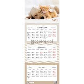 Kalendarz trójdzielny Zwierzaki  Interdruk