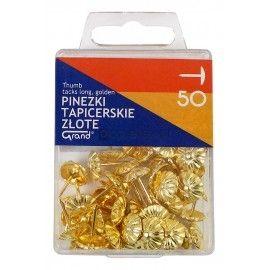 Pinezki tapicerskie złote 50 szt. Grand