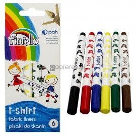 Pisaki mazaki do tkanin 6 kolorów Fiorello