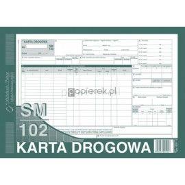 KARTA DROGOWA A4 numerowana