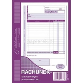 RACHUNEK A5 M&P 233-3