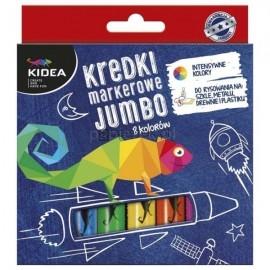 Kredki markerowe Jumbo 8 kolorów Kidea
