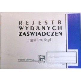 REJESTR WYDANYCH ZAŚWIADCZEŃ RR-21 SIERADZKI