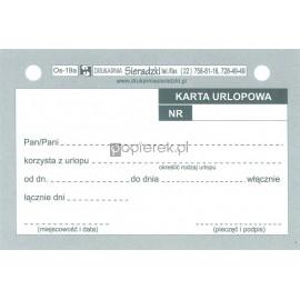 KARTA URLOPOWA A7