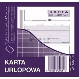 KARTA URLOPOWA M&P