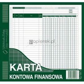 Karta kontowa finansowa A5