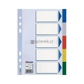 Przekładki do segregatora A4 ELBA 6 kolorów