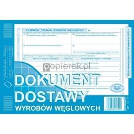 Dokument dostawy wyrobów węglowych A5