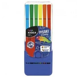 Pisaki w pudełku Kidea, 12 kolorów