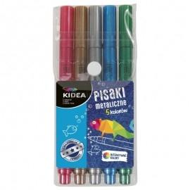 Pisaki metaliczne 5 kolorów KIDEA