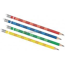 ołówek colorino z tabliczką mnożenia