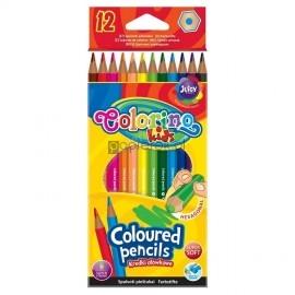 Kredki ołówkowe heksagonalne 12 kolorów COLORINO KIDS