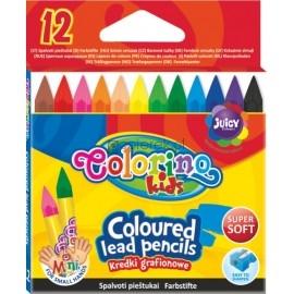 Kredki grafionowe 12 kolorów COLORINO