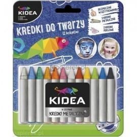 Kredki do malowania twarzy, Kidea 12 kolorów