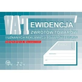 Ewidencja zwrotów i reklamacji towarów i usług Michalczyk & Prokop