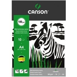 Blok techniczny czarny A4 CANSON