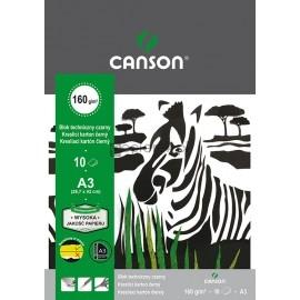 Blok techniczny A3 czarny 10k CANSON