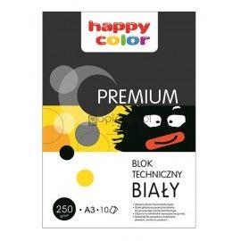 Blok techniczny A3 biały 250g premium Happy Color