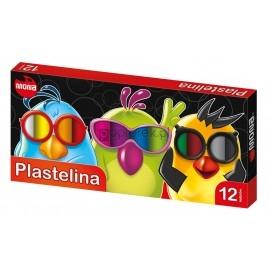 Plastelina szkolna MONA 12 kolorów