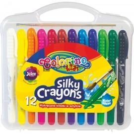 Wykręcane żelowe kredki w sztyfcie 12 kolorów Colorino