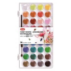Farby akwarelowe wodne 36 kolorów Toma