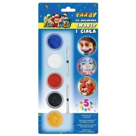 Farby do malowania twarzy i ciała 5 kolorów