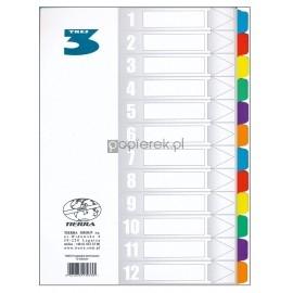 Przekładki do segregatora A4 TRES, 1-12