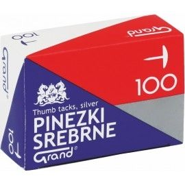 Pinezki GRAND srebrne 100 sztuk