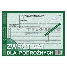 ZWROT VAT dla podróżnych A4 TAX FREE