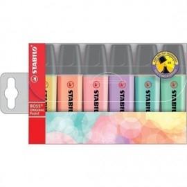 Zakreślacz STABILO BOSS, 6 pastelowych kolorów